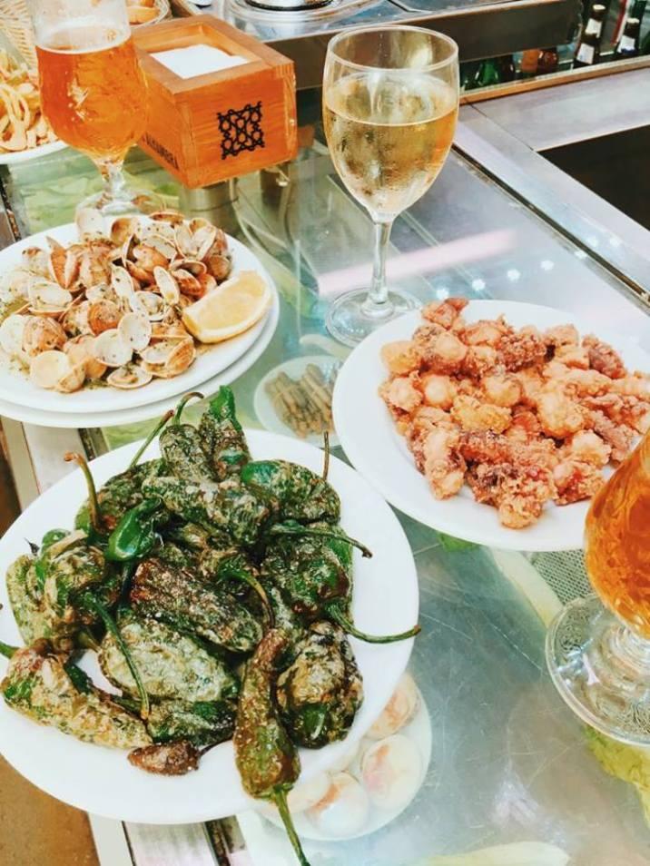 Seafood tapas, Spain.