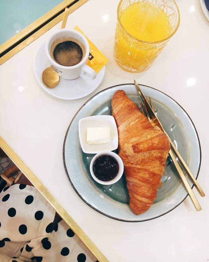 Croissants & coffee - always.