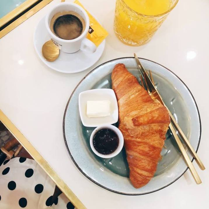 Croissants & coffee - always.
