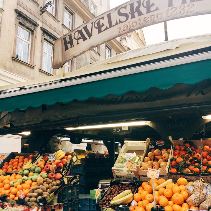 Market stall, Prague.